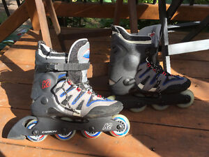 Patins à roulette K2, homme taille 9, presque neuf