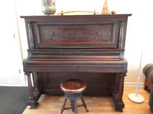 Concert Upright Piano & Stool in Salmon Arm