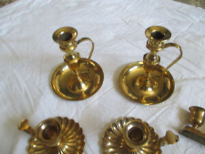 Solid Brass candle holders / candle sticks - various styles