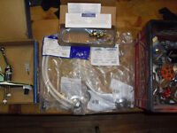 New and used plumbing fixtures hardware faucet pieces lines kits