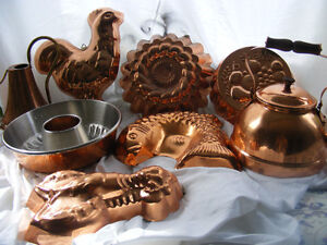 Brass Moulds and Teapot