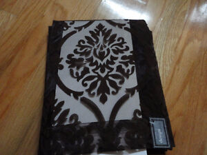 Decorative floral velour pattern curtain hanging panel NEW