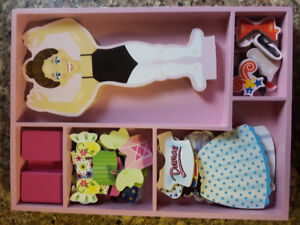 Melissa & Doug wooden dress up doll set