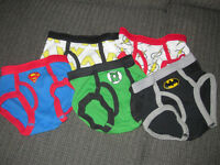 5 Pairs of Size 2t-3t Justice League Briefs