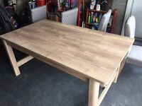 Dining room table set with sideboard