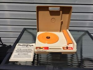 Vintage Fisher Price Child's Record Player & 8 LP's