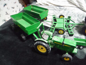 john deere toy tractors and wagons and some other stuff London Ontario image 2