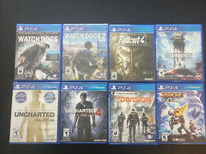 PS4 - Watch dogs 2 (sealed), Uncharted Collection, and more