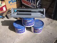 Tile adhesive & cutter