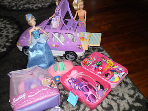 Large BARBIE car with 2 plus 1 Light up DOLL