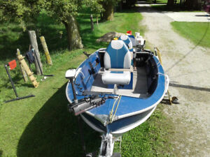 16 foat aluminum fishing boat package for sale