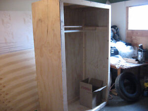 Home-made free standing wardrobe