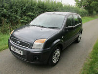 2006 56 FORD FUSION 1.4 TDCI DIESEL 5 DOOR ZETEC BLACK BIGGER THAN FIESTA