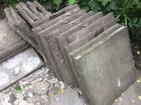 Used CONCRETE PAVING SLABS 2 foot by 2 foot