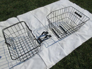 Bicycle Baskets -- Front and Rear