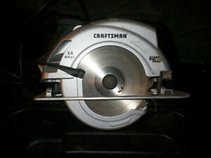 craftsman 7 1/4  saw with ,14 amps has laser trac