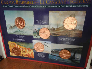 Royal Canadian Mint World War II 6 Bronze Medals 1994