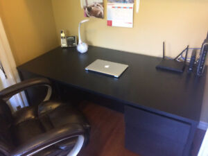 Office Desk,Leather Chair,Filing Cabinet