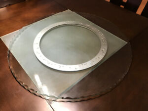 Glass Lazy Susan (large) - great condition, barely used - $40