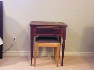 Antique Sewing Cabinet - with Singer Sewing Machine