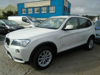 BMW X3 2.0TD XDRIVE20d SE AUTOMATIC White Cream Leather Auto Climate FSH