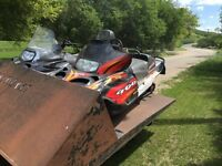 Two Arctic Cats and double tilt trailer for sale or trade