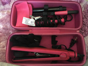 NUME straightener+curler to go case.
