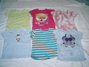Girls T-shirts size 7 in first picture and 7/8 in 2nd picture Kitchener / Waterloo Kitchener Area image 1
