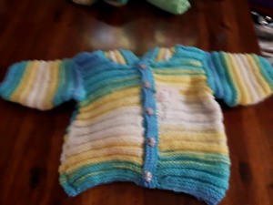 ADORABLE baby sweaters handmade with LOVE