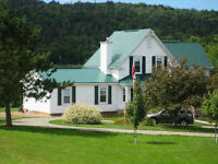 Fully furnished Waterfront Property on Beautiful Margaree River