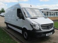 2016 16 MERCEDES SPRINTER 2.1 313CDI LWB HIGH ROOF FACELIFT. 130BHP. 1 OWNER. PX