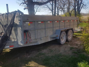 14000 lb double axle trailer 4ft high walls