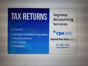 Tax  Returns and Accounting Services