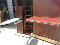 3 piece sewing center/furniture