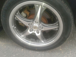 4 roues et pneus 17po DAI