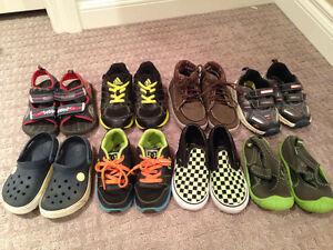 """8 pairs of shoes """"Brand Name"""" boys size 8 & 9 shoes"""
