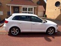 Audi A3 1.6 se 2009 low mileage fsh new mot full leather! Showroom condition AA/rac welcome