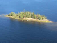 Private Island with Waterfront Cabin (Stuart Lake)