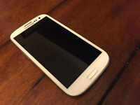 SAMSUNG GALAXY S3 16GB white FOR (bell,virgin) USED