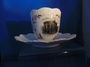 London Ont Old Mustache tea cup showing old Post office