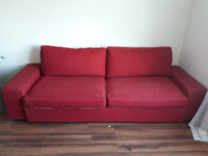 RED COUCH must go asap !!