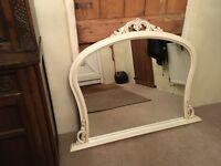 Large decorative mantlepiece mirror