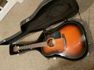 Fender acoustic/electric cd60ce with case $275