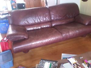 Sofa en cuire