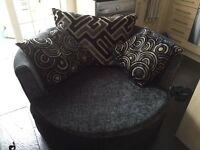 grey cuddle chair