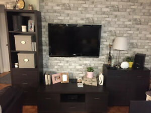 TV Set, Dining set, Bedroom set, 4PC Leather sofa set, cabinets