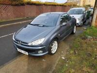 Peugeot 206 1.6HDi 110 2005MY Coupe Cabriolet Allure full service history