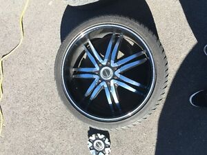 Selling 22in Diablo strada rims with brand new lexani tires!