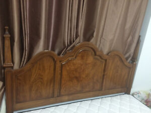 Antique wooden bed frame for sale queen size with mattress box