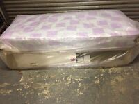 Single bed with storage & mattress